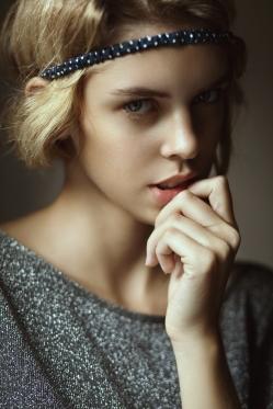 Portrait of beautiful european girl